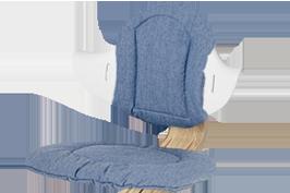 Nomi Highchair cushion kussen Premium Chambray
