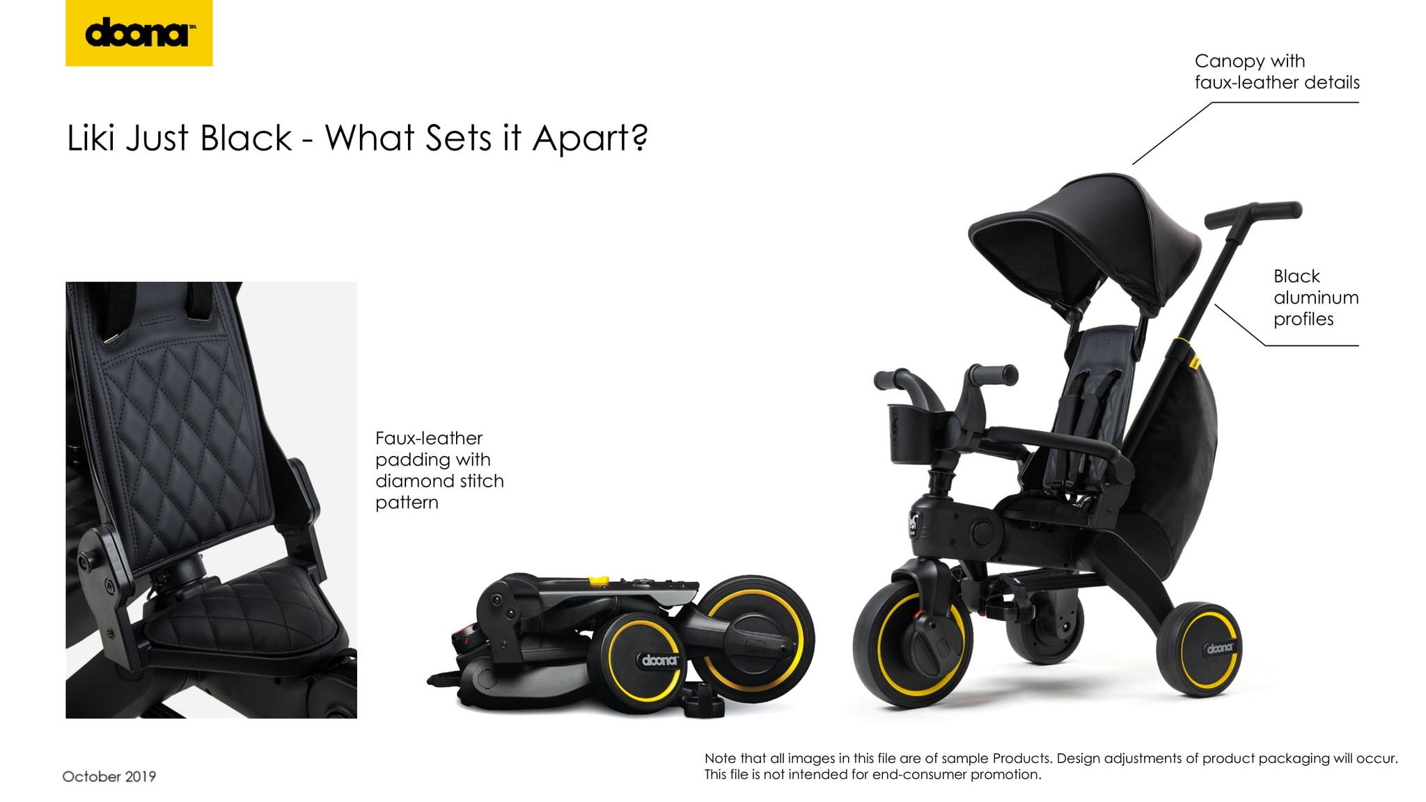 Doona Liki trike - Special Edition Just Black