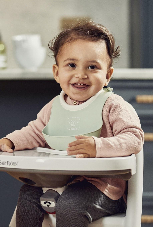 BABYBJÖRN BABYBJÖRN Baby Slabbetje klein duopack Pastelgroen/Pastelroze