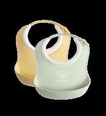 BABYBJÖRN BABYBJÖRN Baby Slabbetje klein duopack Pastelgeel/Pastelgroen