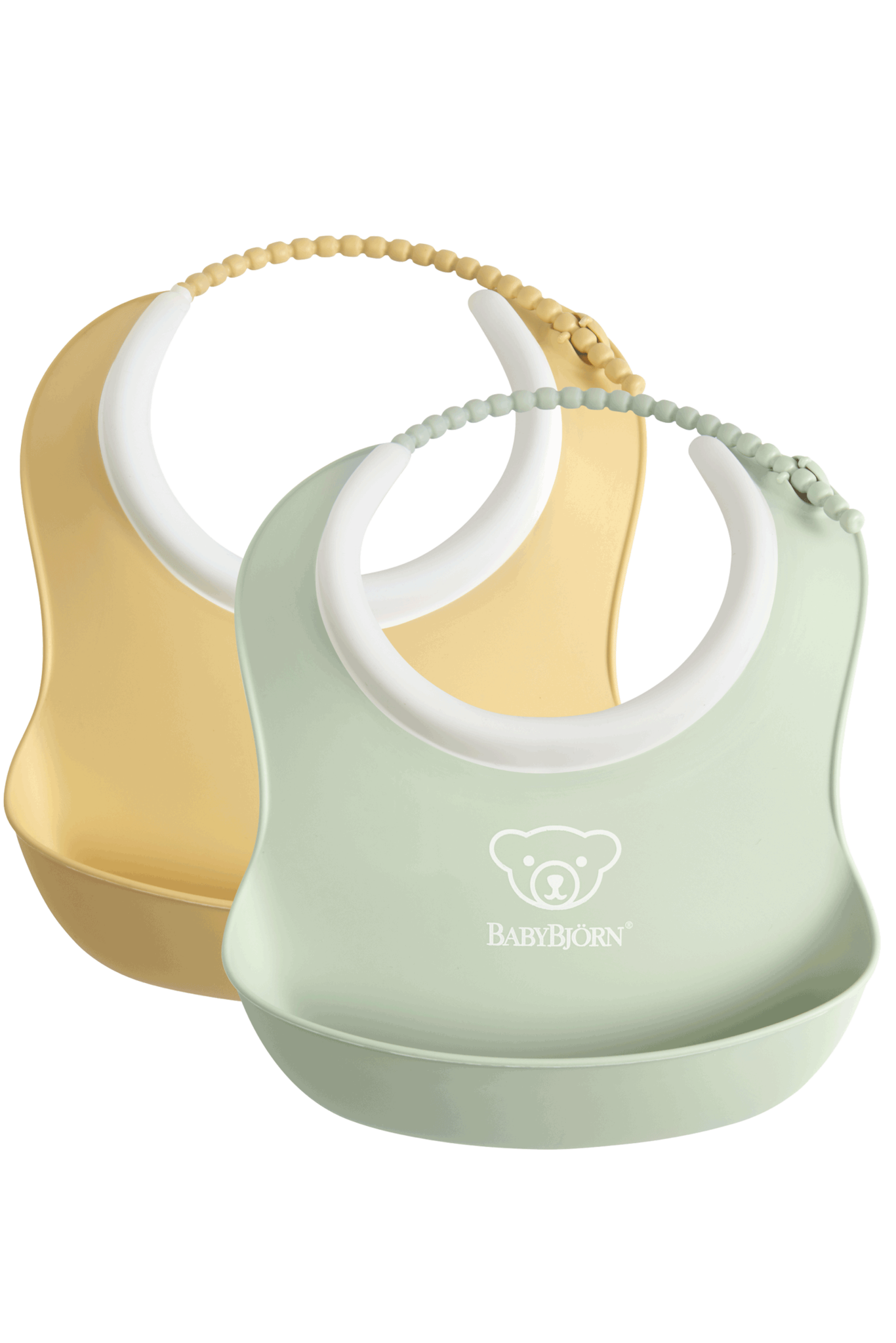 BABYBJÖRN BABYBJÖRN Baby Lätzchen kleine Duo Packung Pastellgelb / Pastellgrün
