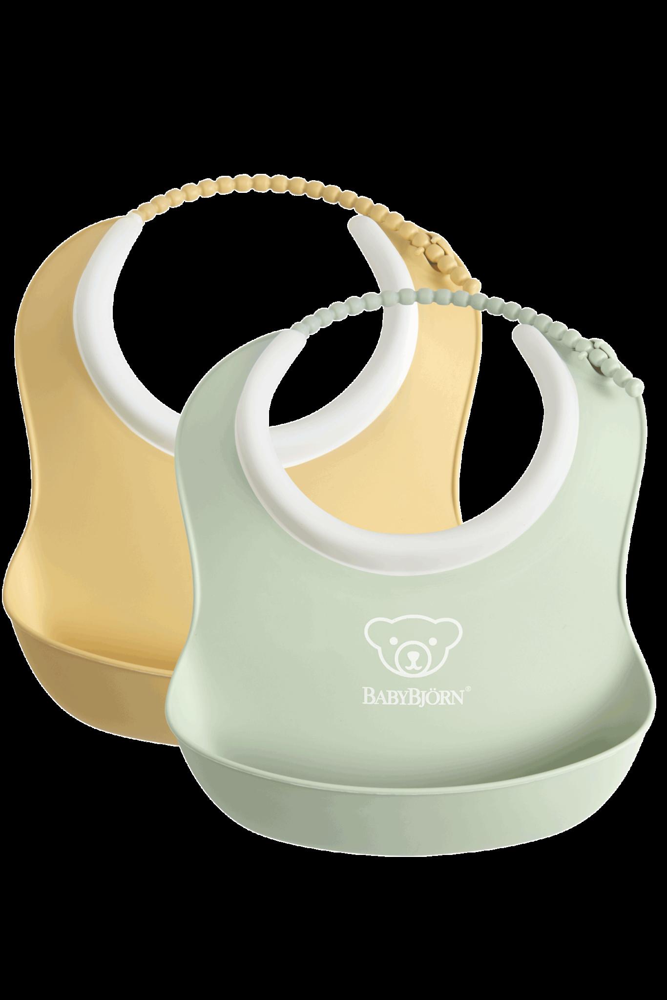 BABYBJÖRN Baby Slabbetje klein duopack Pastelgeel/Pastelgroen