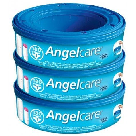Angelcare Nachfüllkassetten für Angelcare-Windelbehälter (3er-Packs)