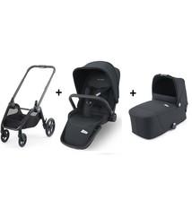 Recaro Recaro Sadena / Celona KInderwagen - Frame Zwart met Zitting en Reiswieg Prime Mat Black