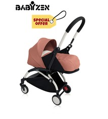 Babyzen Babyzen YOYO² buggy  0+  frame wit / white met newbornpack ginger 2019; frame en newbornpack 2e kansje