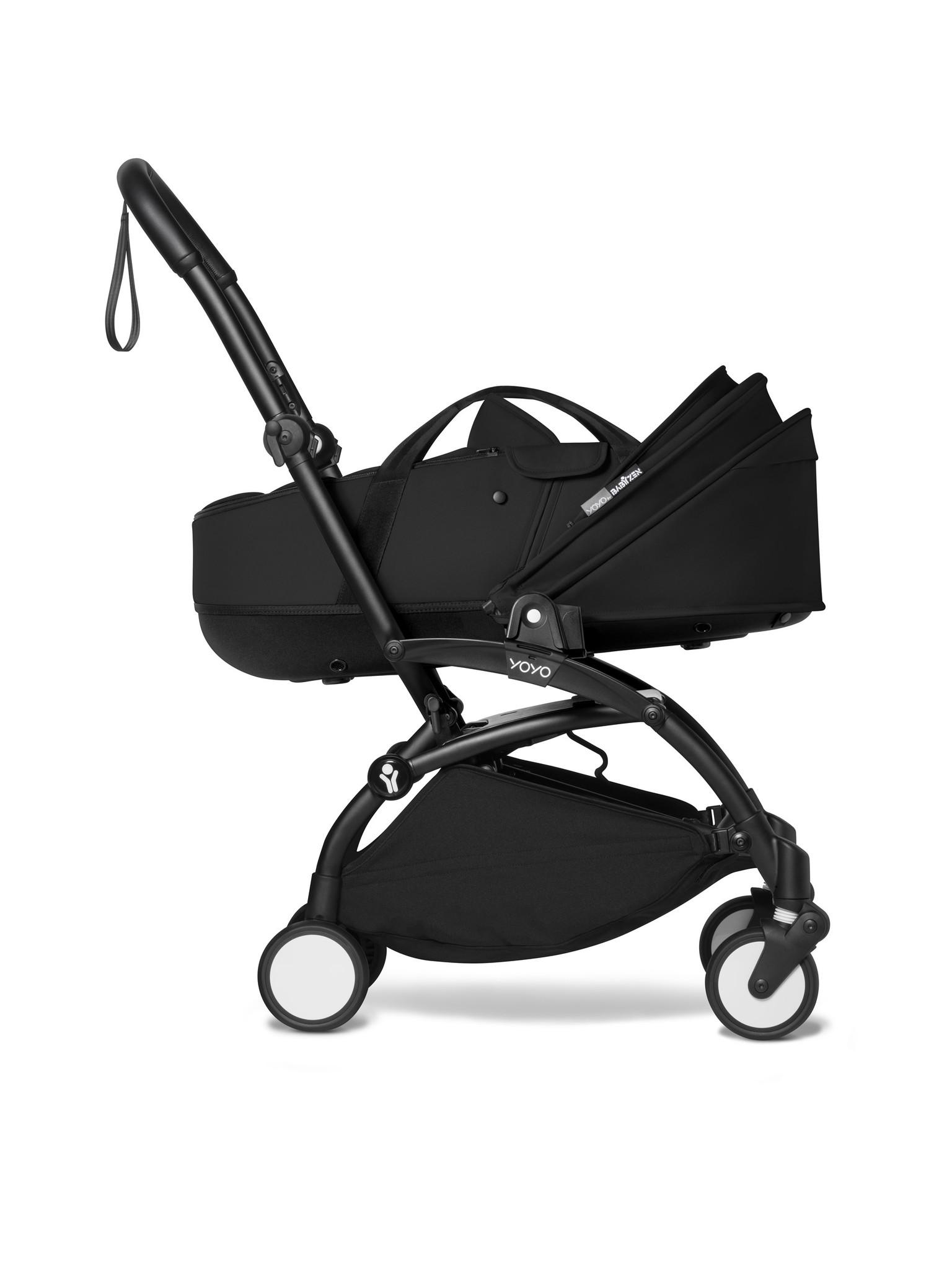 Babyzen Babyzen YOYO² zwart frame met YOYO Bassinet - reiswieg 0+ én Colorpack 6+ beiden in zwart