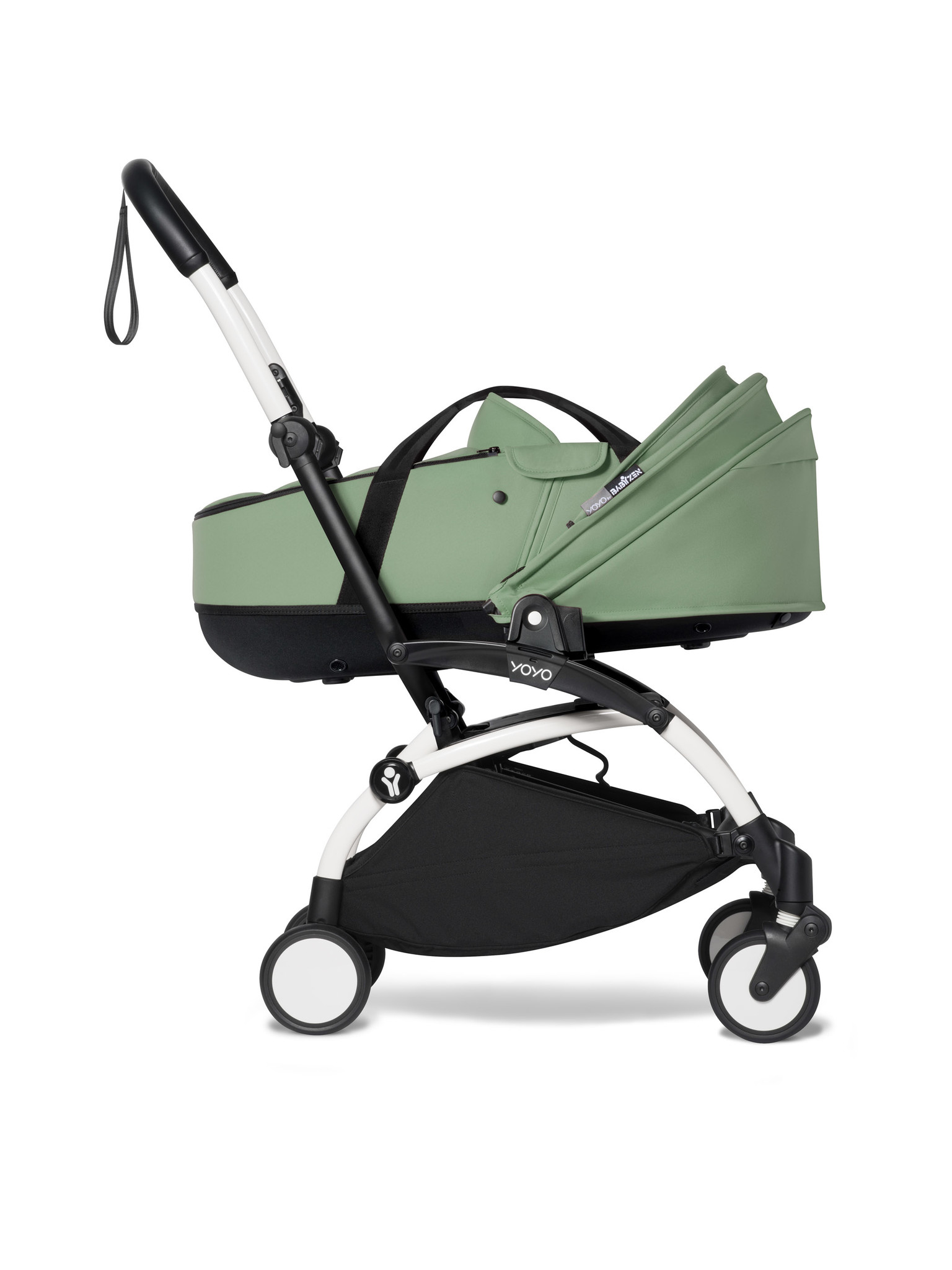 Babyzen Babyzen YOYO² weißer Rahmen mit YOYO Stubenwagen - Tragetasche - Pfefferminze
