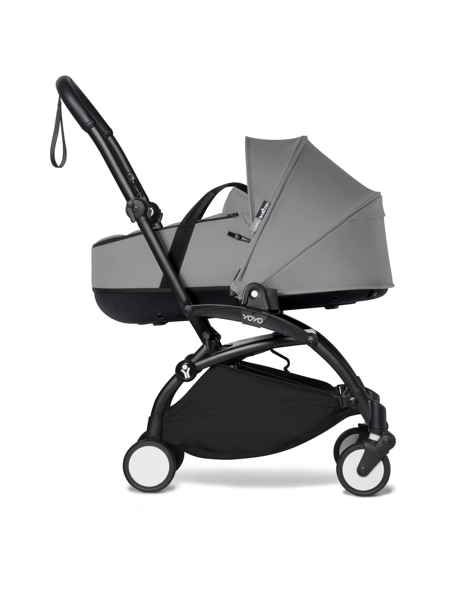Babyzen Babyzen YOYO² schwarzer Rahmen mit YOYO Stubenwagen - Tragetasche - Grau