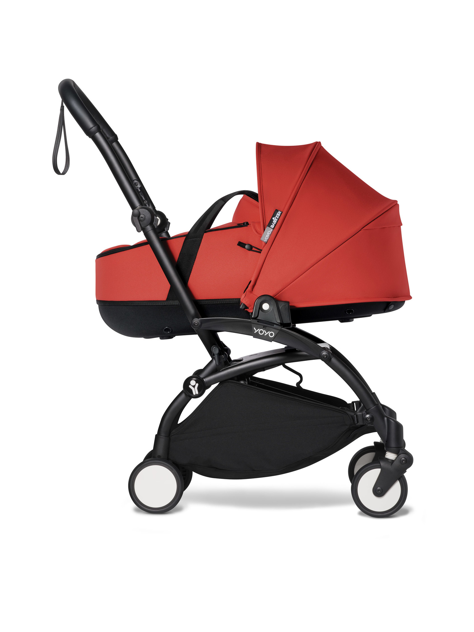 Babyzen Babyzen YOYO² schwarzer Rahmen mit YOYO Stubenwagen - Tragetasche - Rot