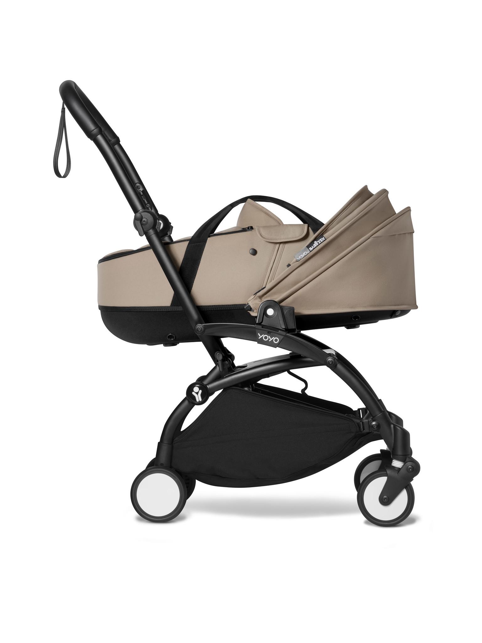 Babyzen Babyzen YOYO² schwarzer Rahmen mit YOYO Stubenwagen - Tragetasche - Taupe
