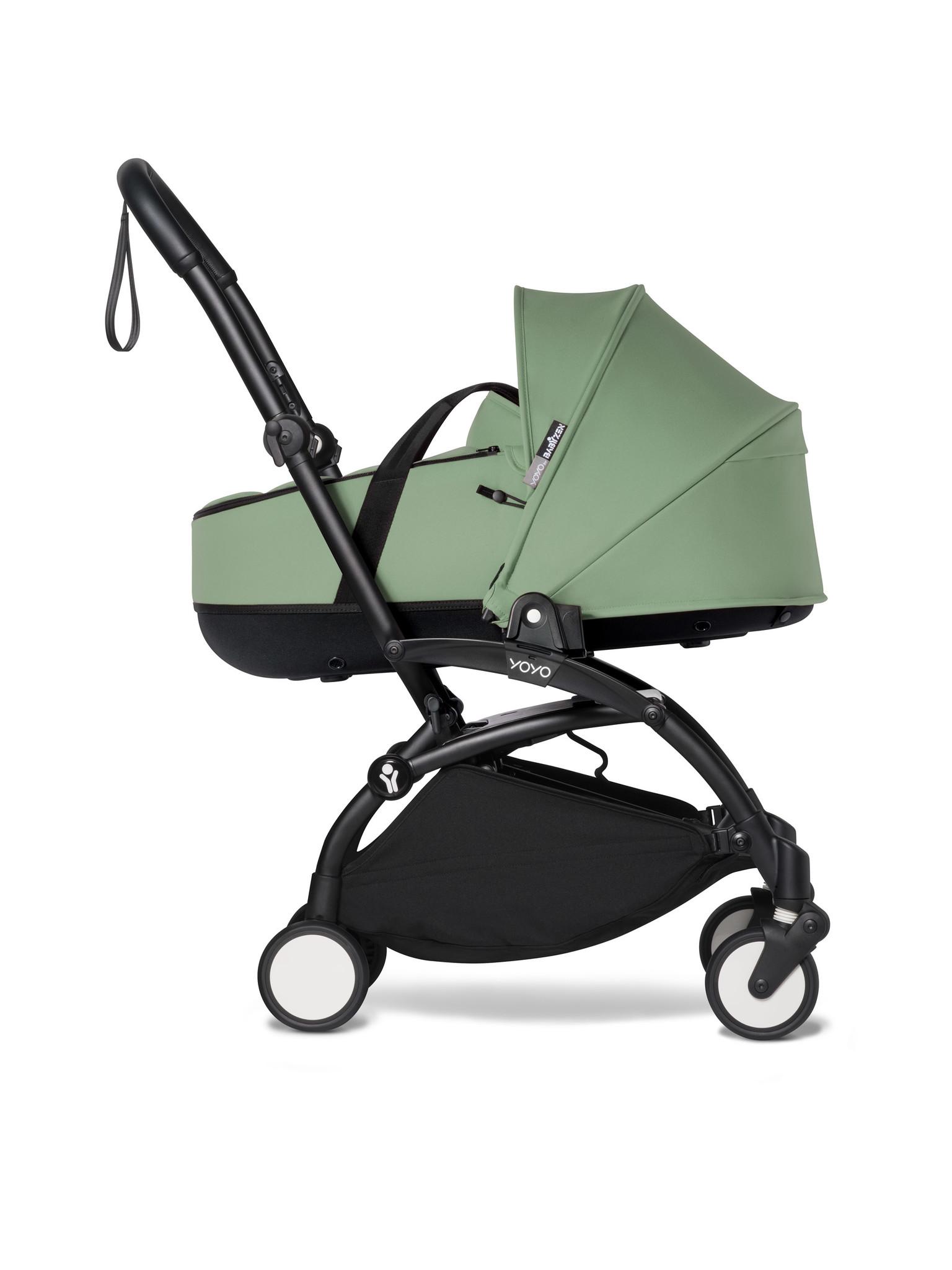 Babyzen Babyzen YOYO² schwarzer Rahmen mit YOYO Stubenwagen - Tragetasche - Pfefferminze