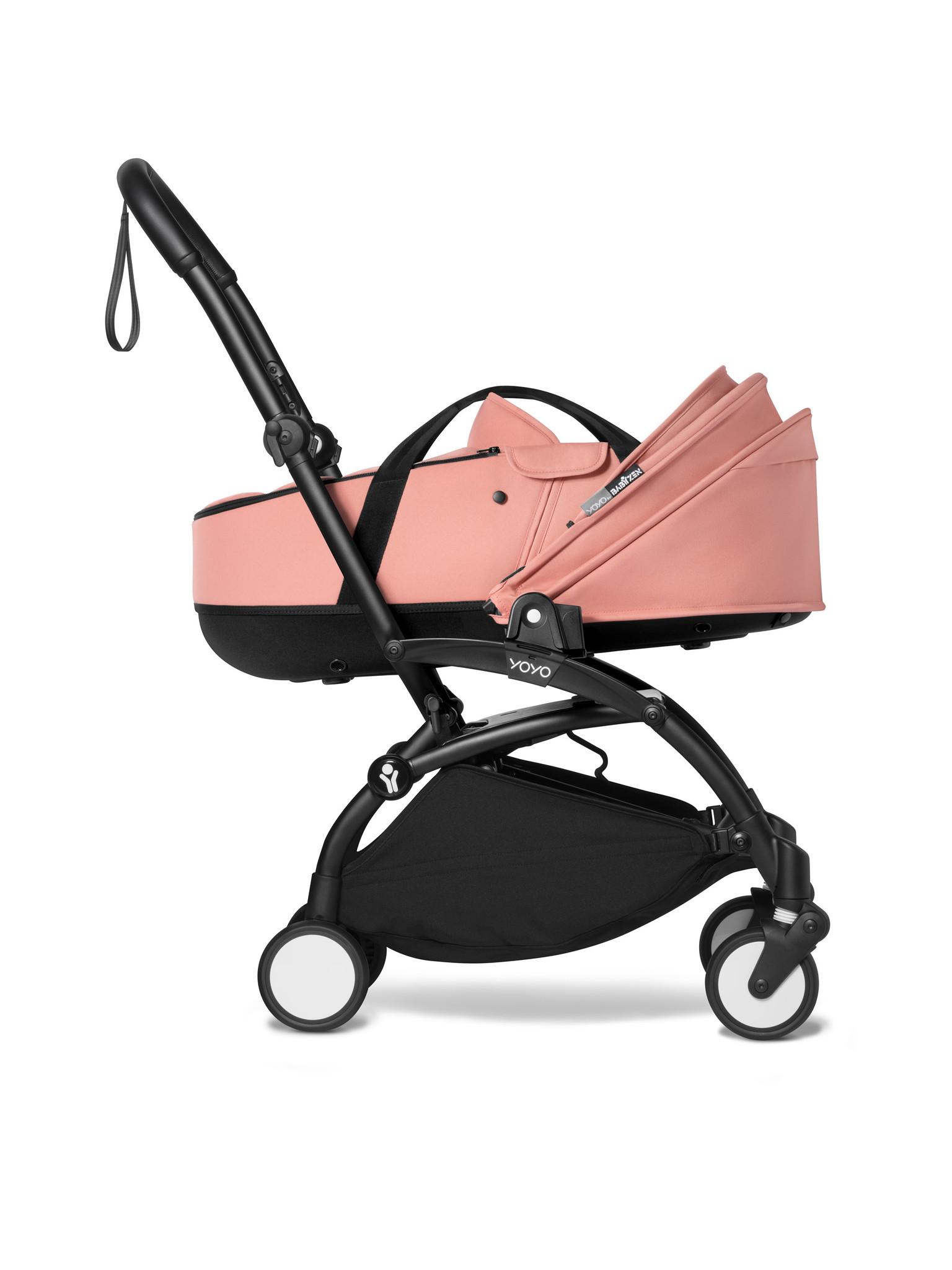 Babyzen Babyzen YOYO² schwarzer Rahmen mit YOYO Stubenwagen - Tragetasche - Ingwer