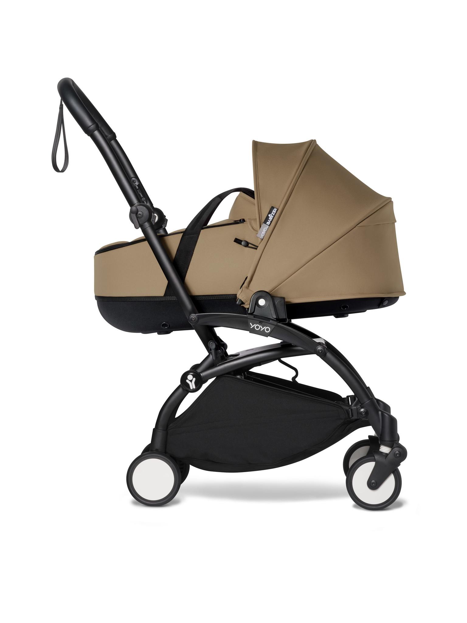 Babyzen Babyzen YOYO² schwarzer Rahmen mit YOYO Stubenwagen - Tragetasche - Toffee