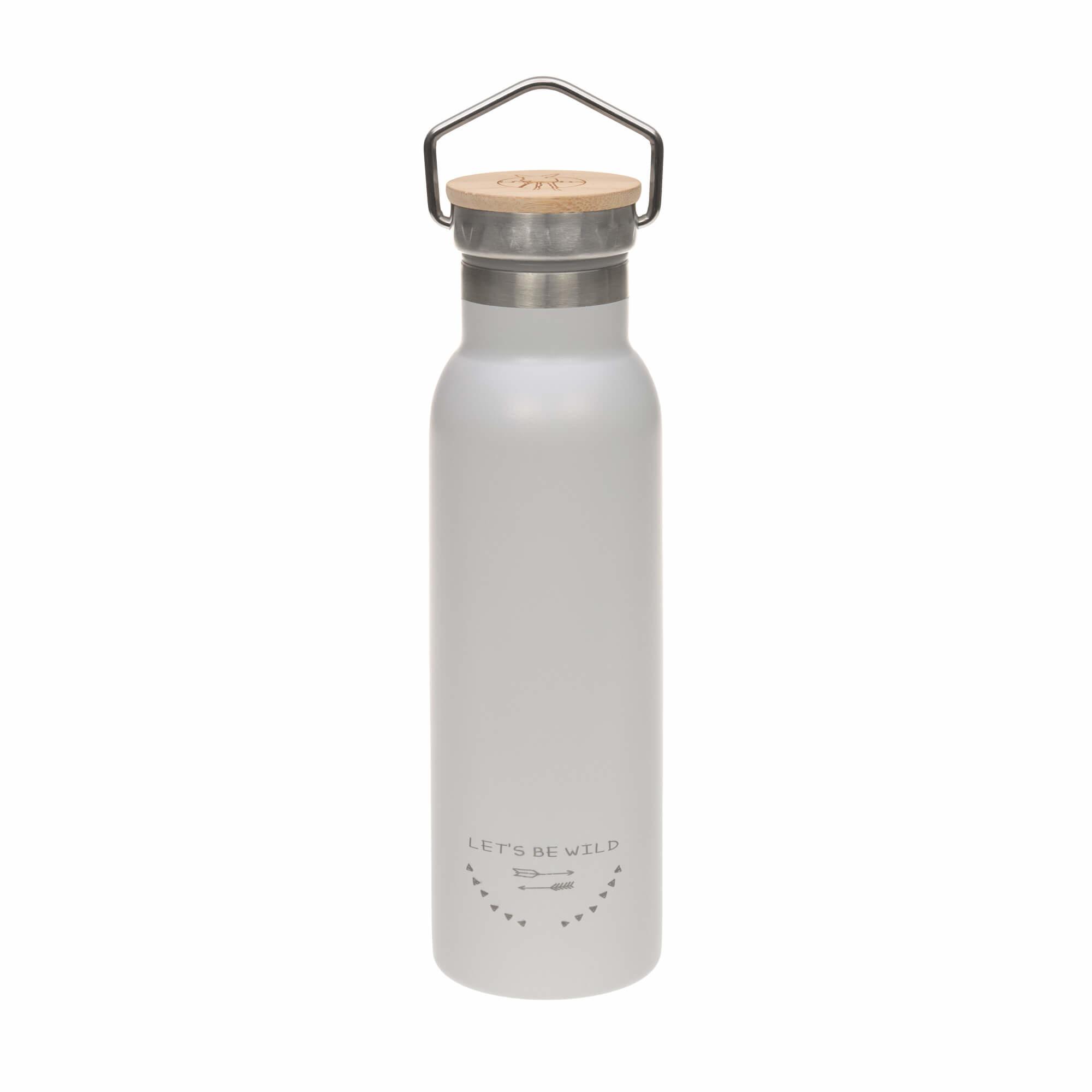 Lässig Lässig geisoleerde roesvrijstalen fles voor kinderen Adventure grey 460ml