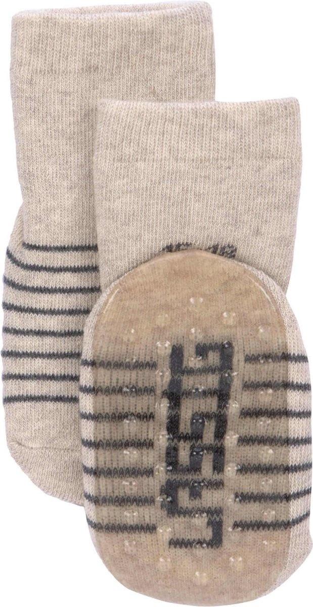 Lässig Lässig Anti-slip sokjes 2 paar assorted grey/beige, Maat 27-30
