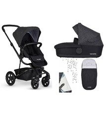 Easywalker Easywalker Harvey² Kinderwagen + Reiswieg + Voetenzak + Regenhoes Night Black