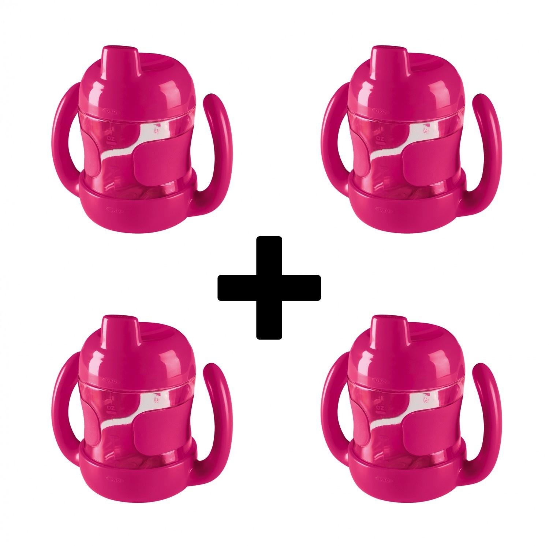 OXO tot OXO tot Sippy beker met handvaten (200 ml) - Pink set van 4