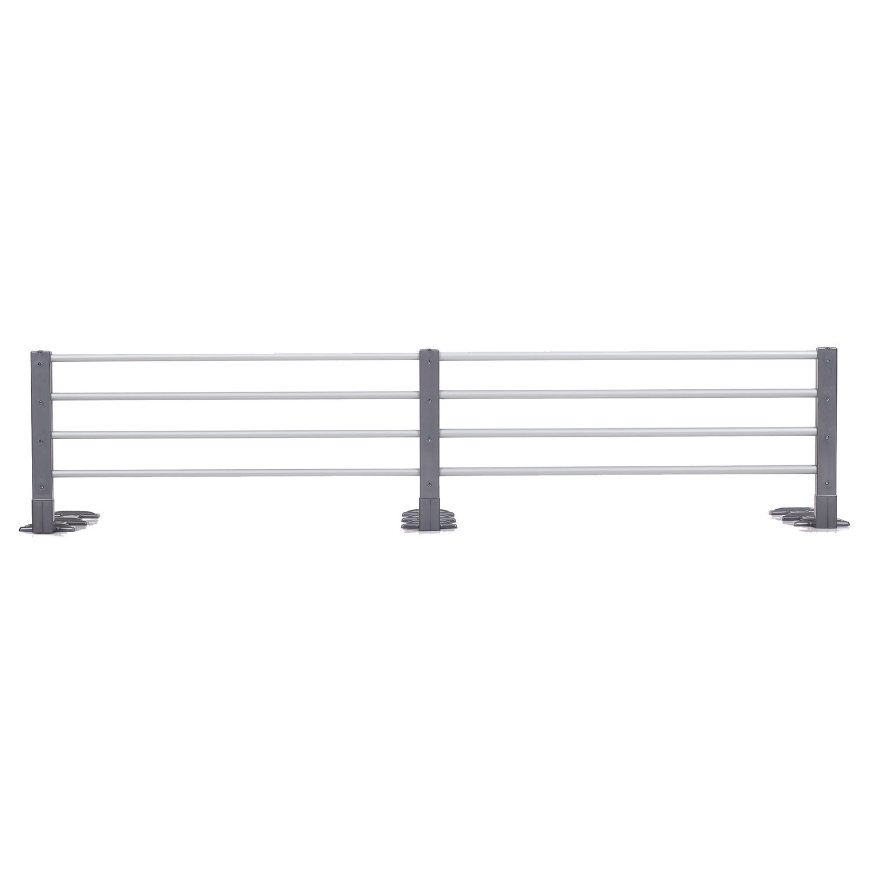Reer Reer bedhekje, lengte- en hoogte verstelbaar, metallic grijs