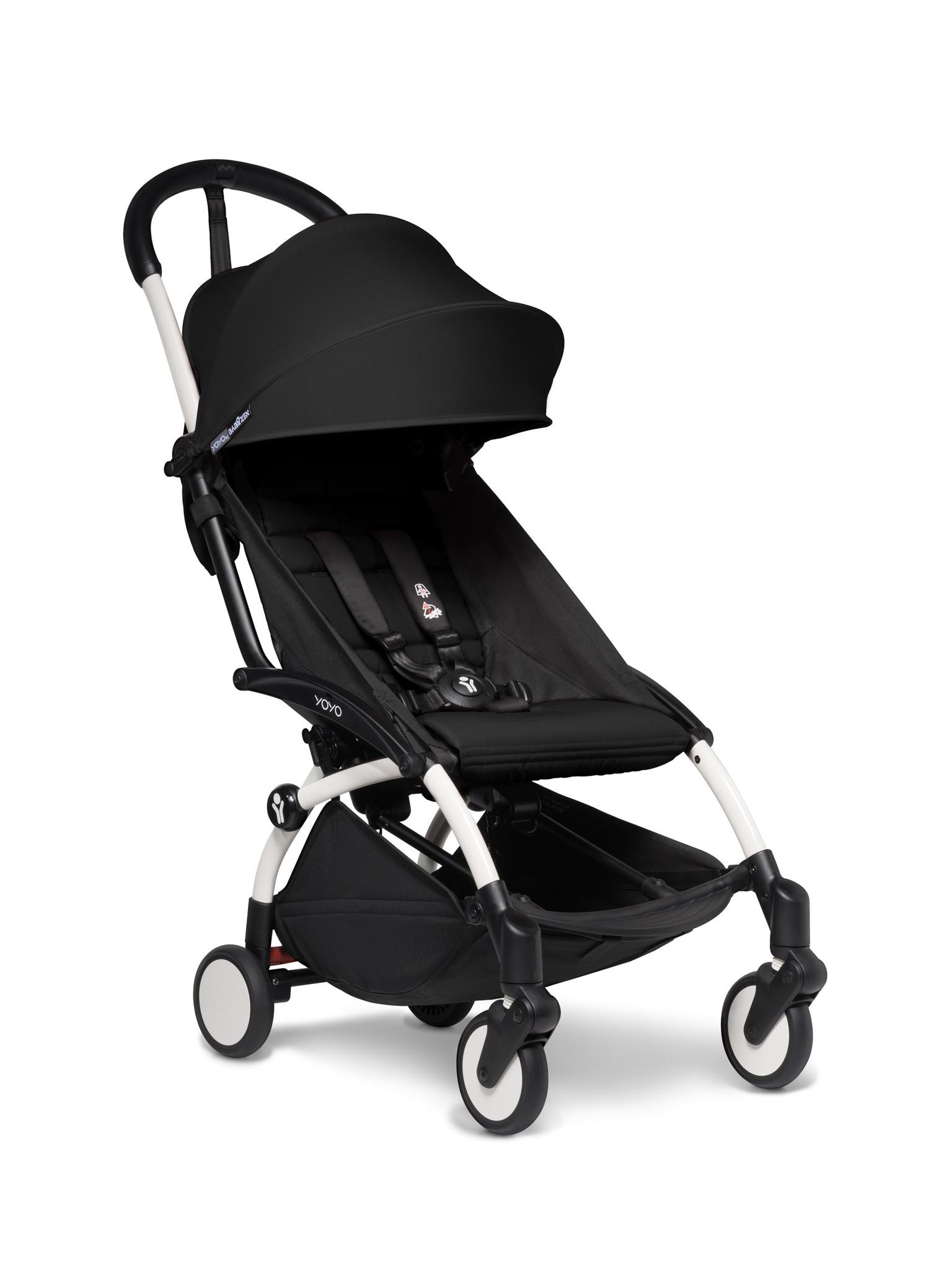 Babyzen Babyzen YOYO² Buggy ab 6 Monaten inklusive Beinstütze - schwarz mit weißem Rahmen