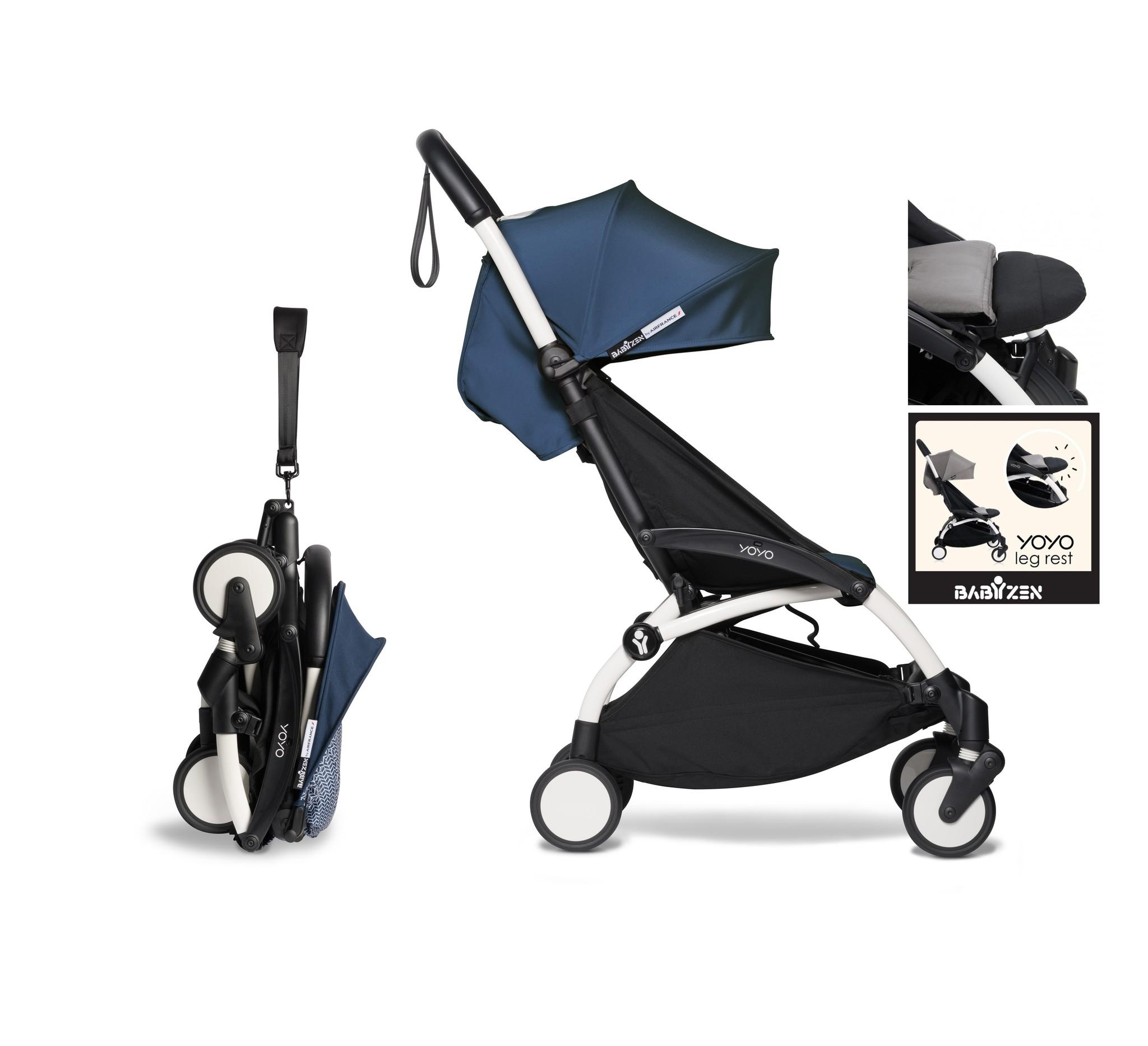 Babyzen YOYO² buggy vanaf 6 maanden inclusief beensteun - AirFrance met frame wit
