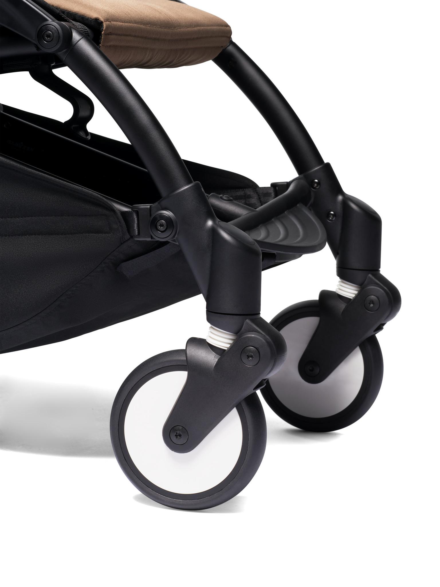 Babyzen Babyzen YOYO² Buggy ab 6 Monaten inklusive Beinstütze - Toffee mit weißem Rahmen