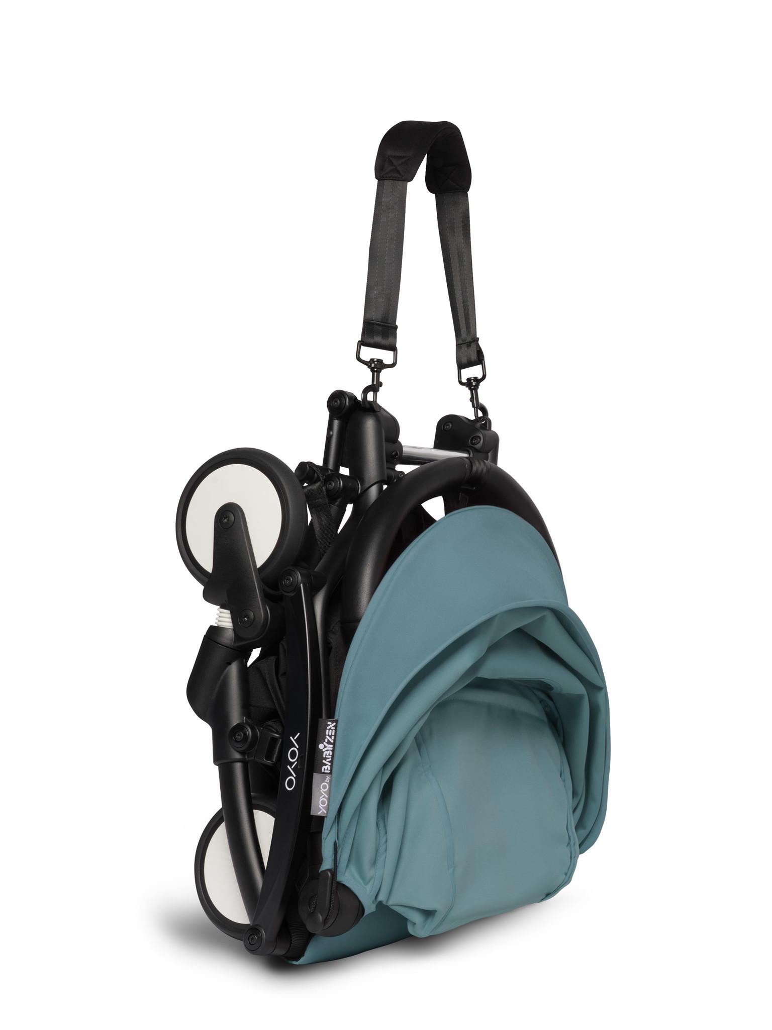 Babyzen Babyzen YOYO² Buggy ab 6 Monaten inklusive Beinstütze - Aqua mit schwarzem Rahmen