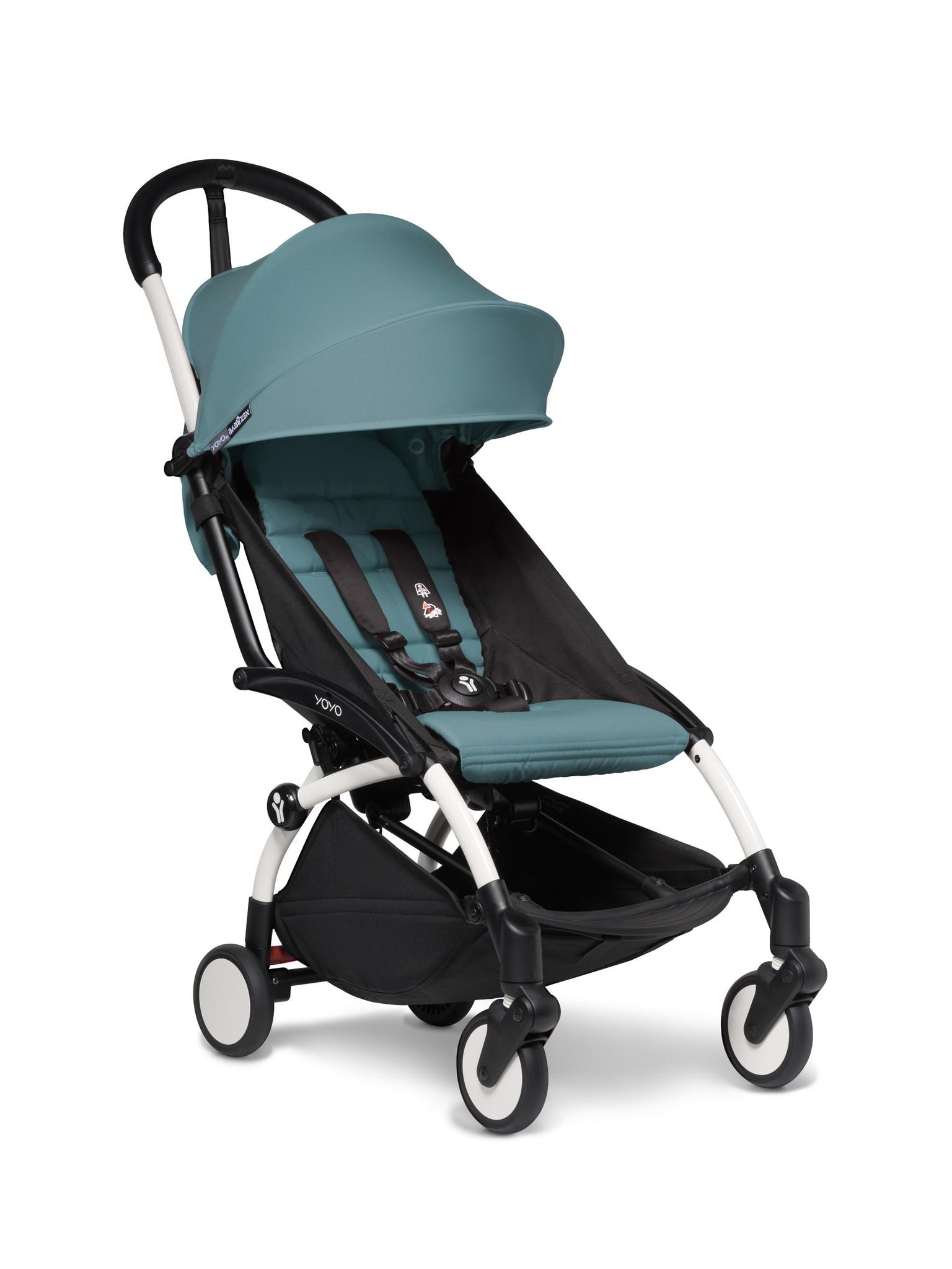 Babyzen Babyzen YOYO² buggy vanaf 6 maanden inclusief beensteun -  aqua met frame wit