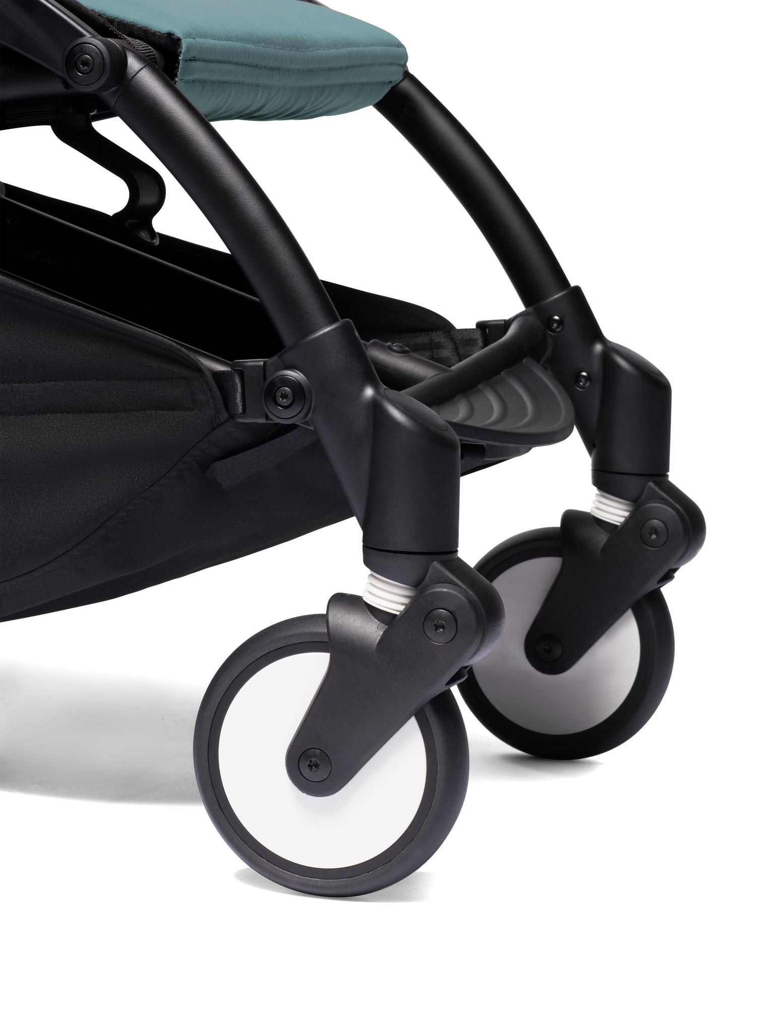 Babyzen Babyzen YOYO² Buggy ab 6 Monaten inklusive Beinstütze - Aqua mit weißem Rahmen