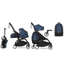 Babyzen Babyzen YOYO² Buggy VOLLSTÄNDIG von Geburt an und inklusive YOYO Bag - AirFrance mit schwarzem Rahmen