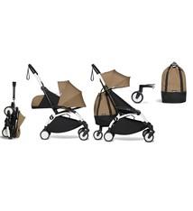 Babyzen Babyzen YOYO² buggy COMPLEET vanaf de geboorte en inclusief YOYO Bag -  toffee met frame wit