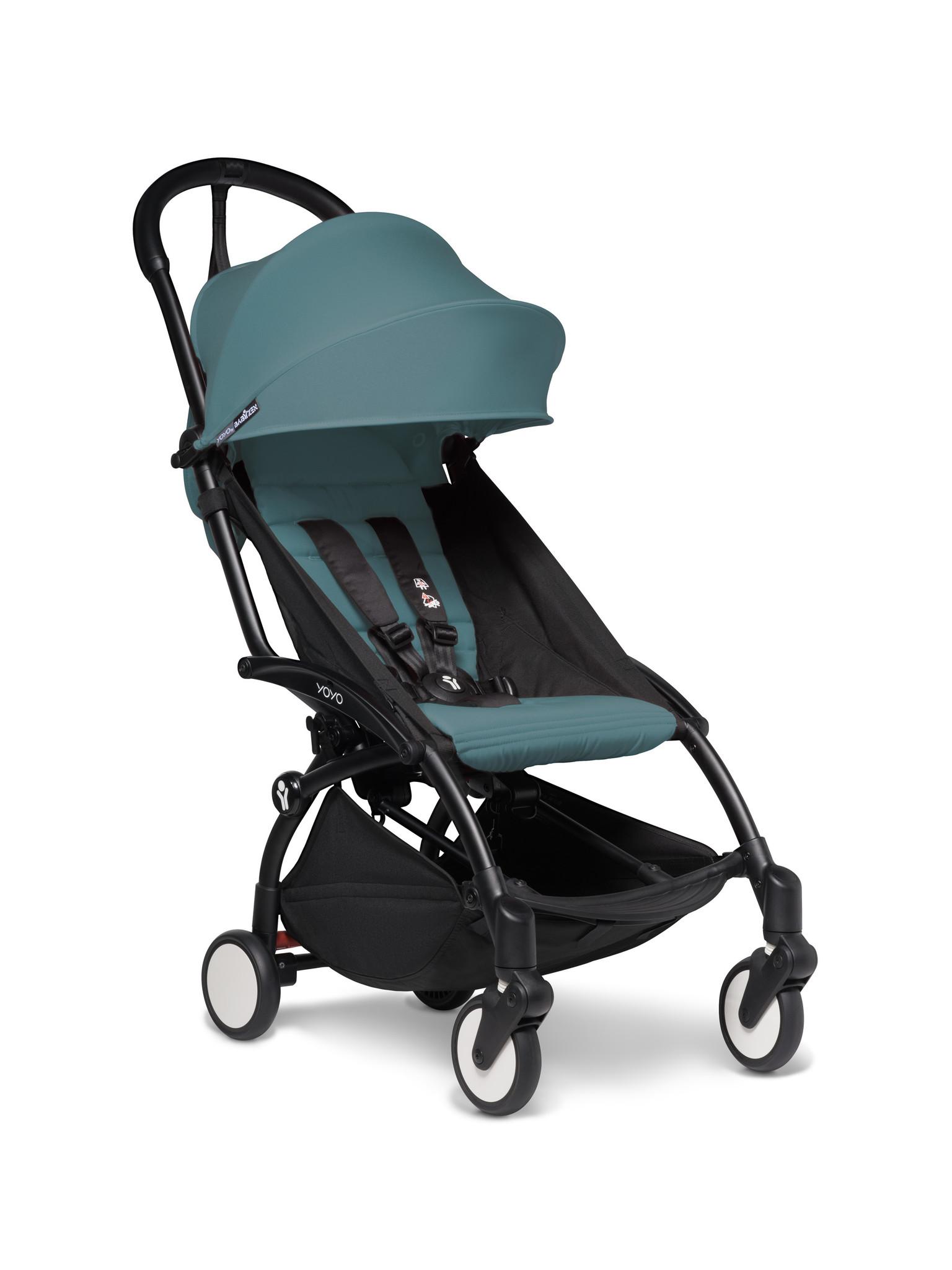 Babyzen Babyzen YOYO² buggy COMPLEET vanaf de geboorte en inclusief YOYO Bag -  aqua met frame zwart