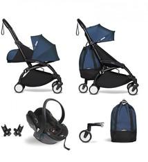 Babyzen Babyzen YOYO² buggy COMPLEET vanaf de geboorte inclusief YOYO² BeSafe autostoel zwart  en YOYO Bag -  AirFrance met frame zwart
