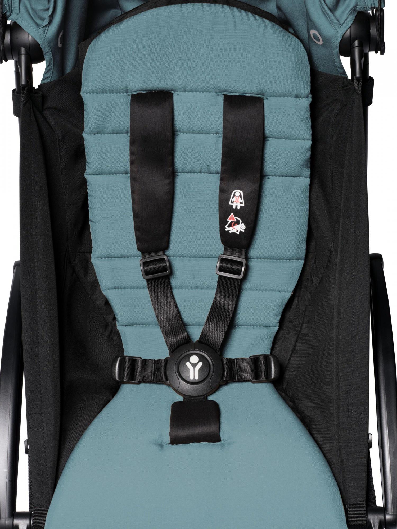 Babyzen Babyzen YOYO² Buggy VOLLSTÄNDIG von Geburt an, einschließlich YOYO² BeSafe Autositz schwarz und YOYO Bag - Aqua mit Rahmen weiß