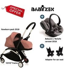 Babyzen Babyzen YOYO²  buggy 0+ Ginger 2018, frame wit incl. autostoel Babyzen iZi Go Modular by BeSafe grijs 2018
