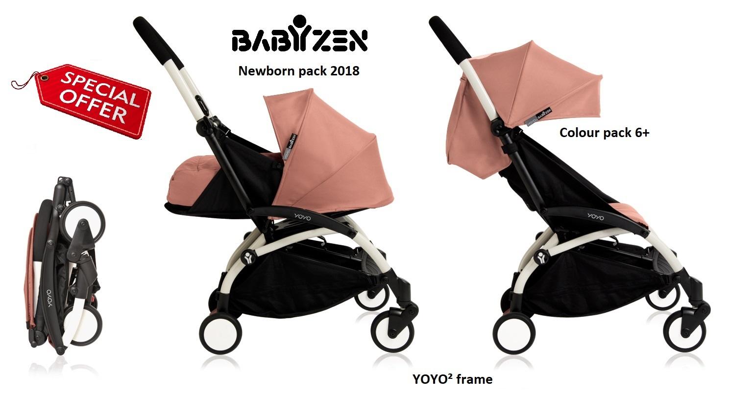 Babyzen Babyzen YOYO² buggy compleet 0+ 2018 en 6+ Ginger , frame wit