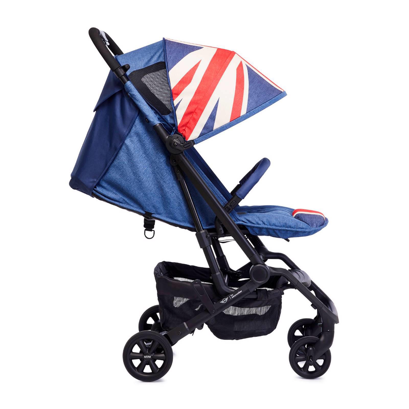 Easywalker Mini by Easywalker XS Buggy Union Jack Vintage én parasol én voetenzak én transporttas én cupholder