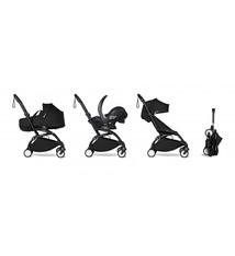 Babyzen Babyzen YOYO² schwarzer Rahmen mit YOYO Stubenwagen - Tragetasche 0+ und Colorpack 6+ - Schwarz inkl. YOYO Autositz von BeSafe