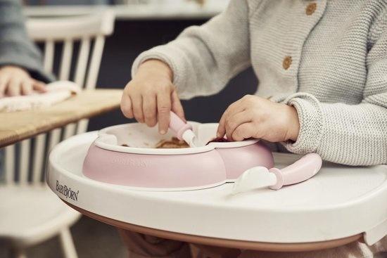 BABYBJÖRN BABYBJÖRN Babyteller, Löffel und Gabel, 2er-Set Pastellrosa