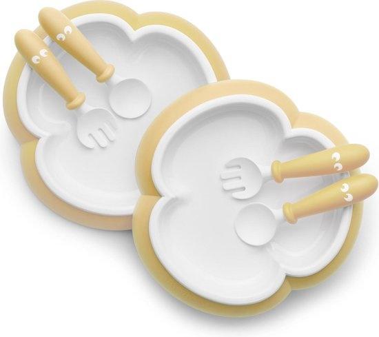 BABYBJÖRN BABYBJÖRN Babybord, Lepel en Vork, set van 2 Pastelgeel