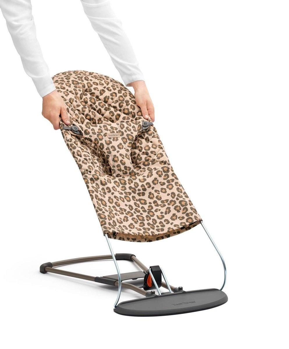 BABYBJÖRN BABYBJÖRN Stoffsitz für Baby Bouncer Bliss Beige Leopard Cotton