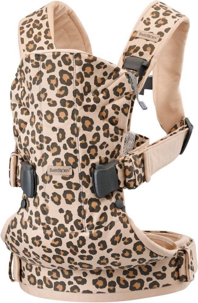 BABYBJÖRN BABYBJÖRN Babytrage ONE Beige Leopard Cotton