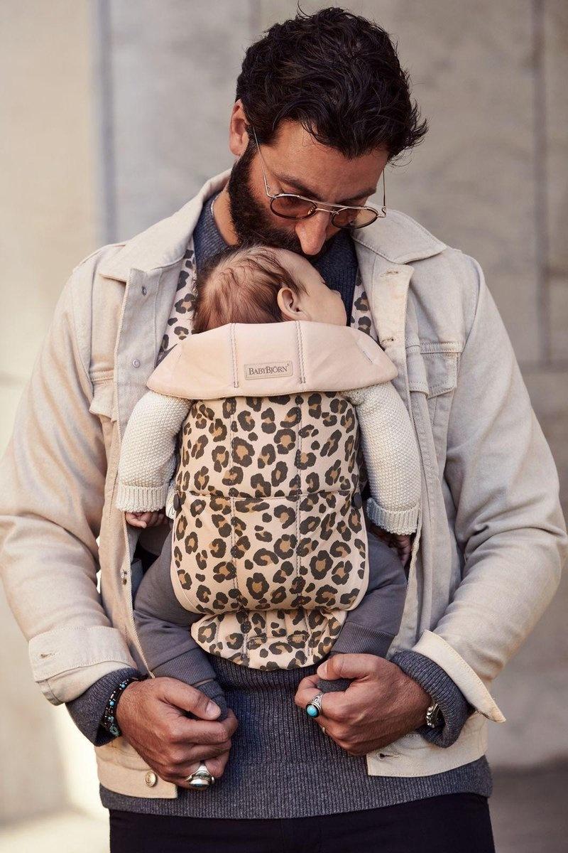 BABYBJÖRN BABYBJÖRN Draagzak Mini Beige Luipaard Cotton