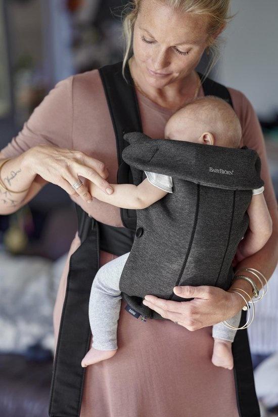 BABYBJÖRN BABYBJÖRN Draagzak Mini Houtskoolgrijs 3D Jersey