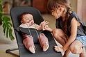 BABYBJÖRN Babybjörn Wipstoeltje Bliss en Draagzak MINI - houtskoolgrijs 3D jersey