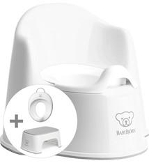 BABYBJÖRN Babybjörn Starterpaket bestehend aus Töpfchensitz, Tritthocker und Toilettentrainer - weiß grau