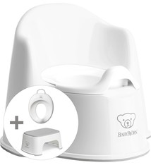 BABYBJÖRN Babybjörn startpakket bestaande uit Plaspotje Zetel, Opstapkrukje en Toilettrainer - Wit grijs