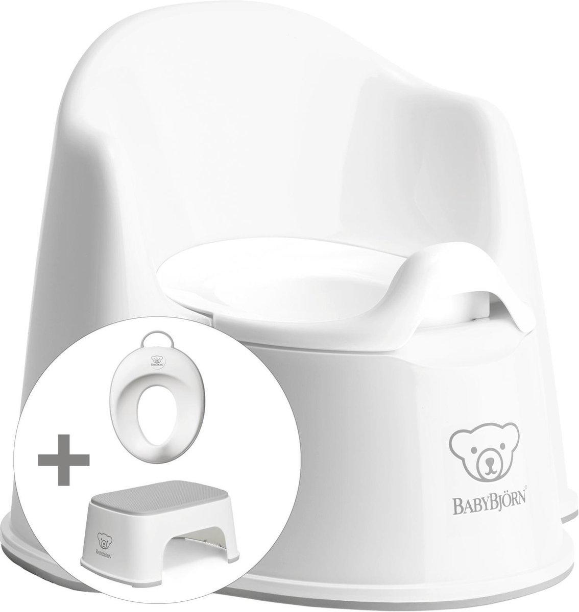 BABYBJÖRN Babybjörn startpakket bestaande uit Plaspotje Zetel, Opstapkrukje en Toilettrainer - Wit g
