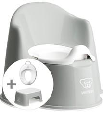 BABYBJÖRN Babybjörn Starterpaket bestehend aus Töpfchensitz, Tritthocker und Toilettentrainer - grauweiß