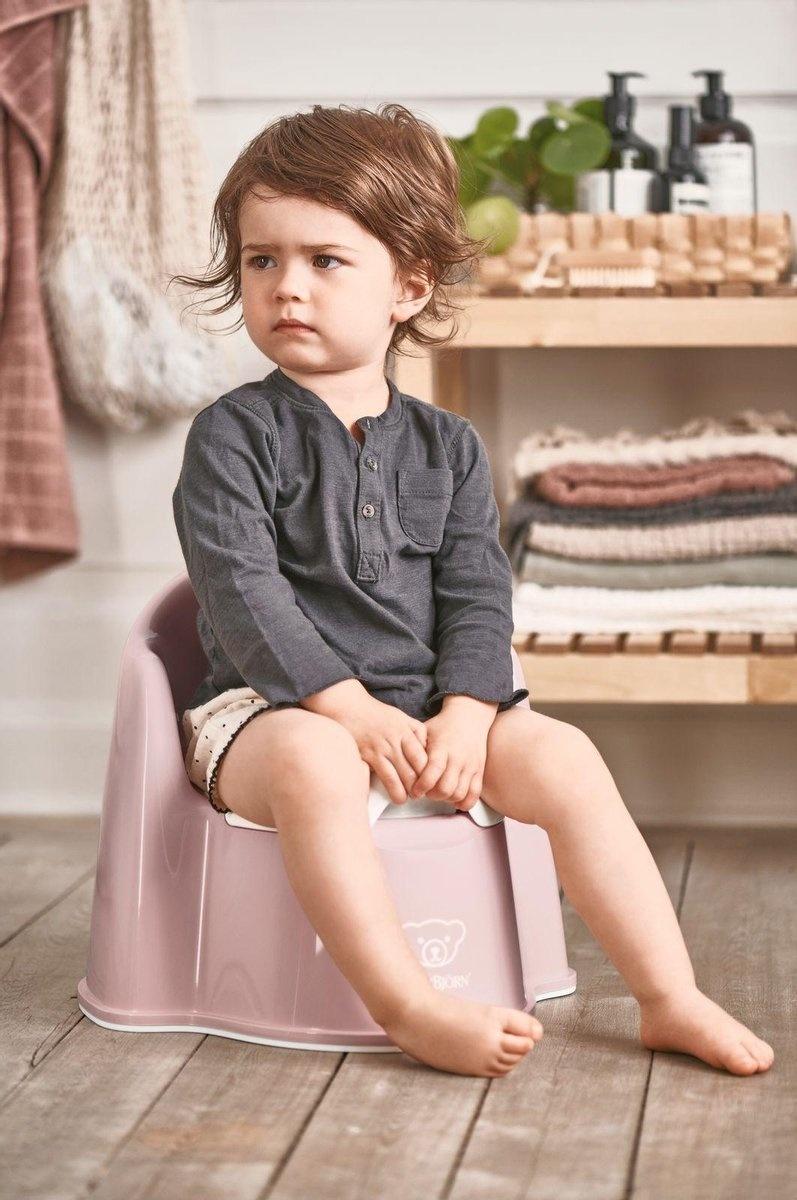 BABYBJÖRN Babybjörn Starterpaket bestehend aus Töpfchensitz, Tritthocker und Toilettentrainer - Pastellrosa Weiß