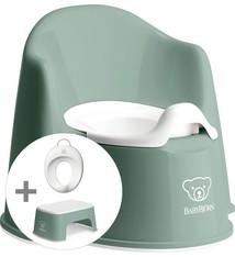 BABYBJÖRN Babybjörn Starterpaket bestehend aus Töpfchensitz, Tritthocker und Toilettentrainer - tiefgrün weiß
